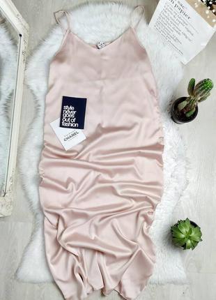 Новое платье миди комбинация