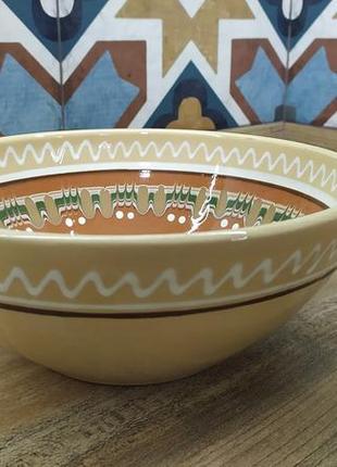 Посуда глиняная пп васильковская майолика, майоліка миска українська