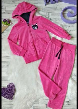 Спортивный костюм lupilu на девочку велюр розовый