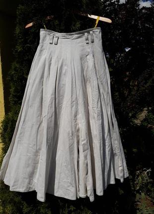 Біла лляна спідниця/белая юбка
