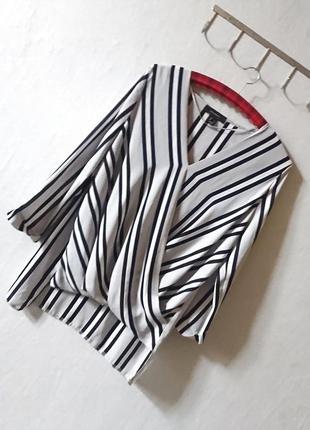Трендовая, полосатая блуза на запах🔸 бренд atmosphere