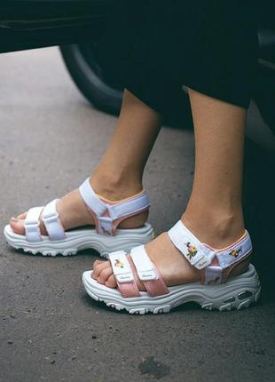 Сандали skechers d'lites sandal white сандалі боссоножки босоніжки