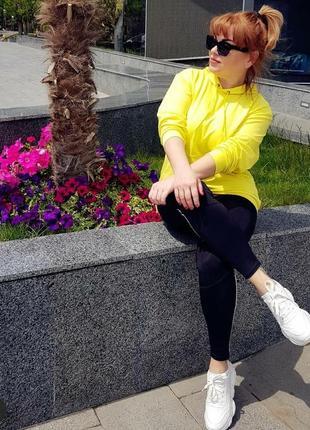 Желтый худи унисекс2 фото