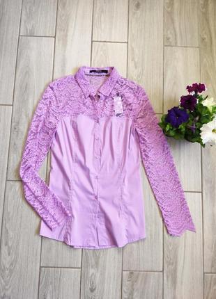 Блуза guess с кружевными вставками
