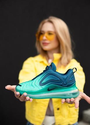 Замечательные женские кроссовки nike air max 720 green carbon бирюзовые