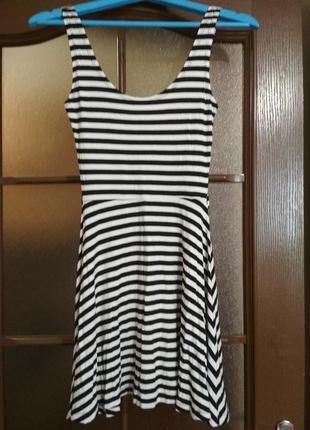 Летнее платье легкое в полоску