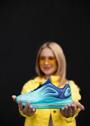 Отличные женские кроссовки nike air max 720 бирюзовые