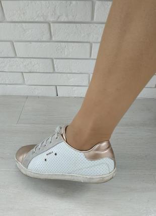 Стильные брендовые летние дышащие кроссовки кеды натуральная кожа