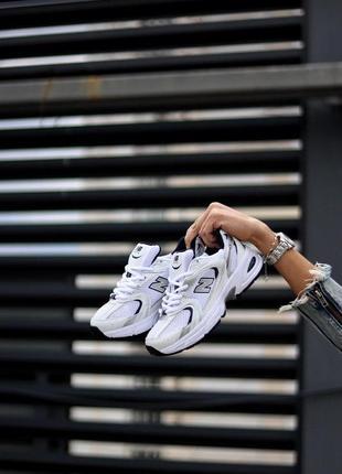 Шикарные кроссовки унисекс new balance 530 white silver