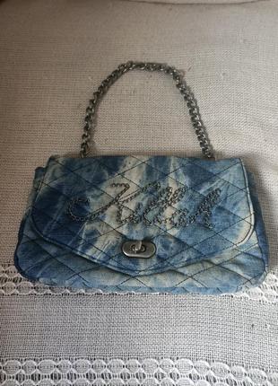 Фирменная джинсовая сумочка, клатч killah, miss sixty