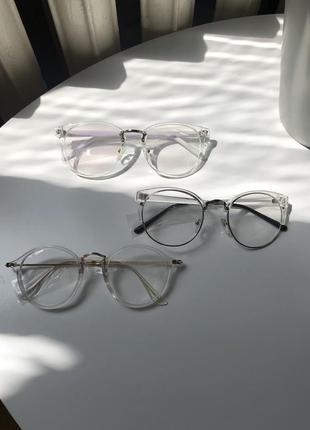Очки прозрачные прозрачная оправа
