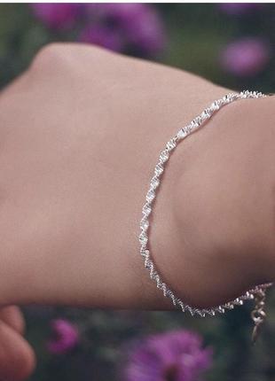 Очень красивый и нежный браслетик , серебро