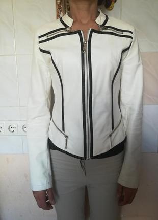 Кожаная куртка / байкерская куртка / мотокуртка эко кожа