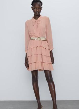 Платье весеннее нарядное офис zara xs нарядное