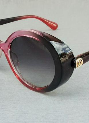 Женские солнцезащитные очки круглые черно красные