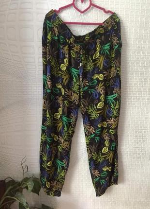 Легкие вискозные штаны большого размера от yessica