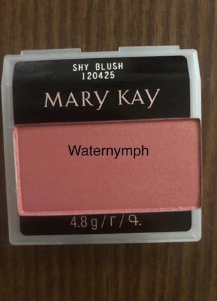 Румяна chromafusion, тон нежный румянец shy blush (мерцающие) от mary kay