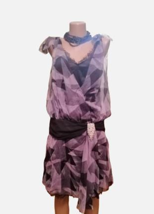 Платье шёлк стразы сваровских