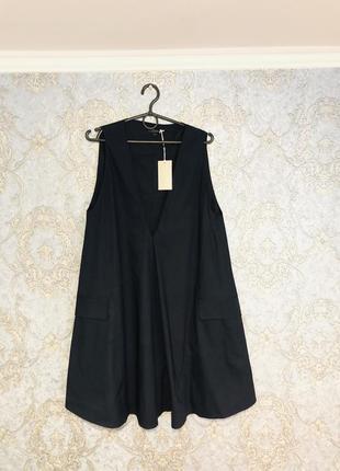 Платье cos трапеция с накладными карманами