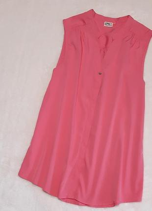 Красивая блуза рубашка вискоза размер 10-12 only