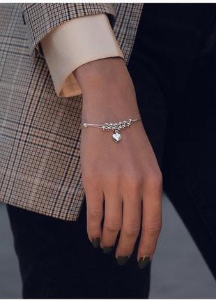 Очень красивый и нежный браслетик, серебро