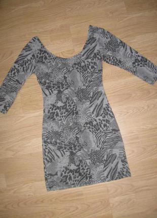 Платье-туника с вырезом на спинке