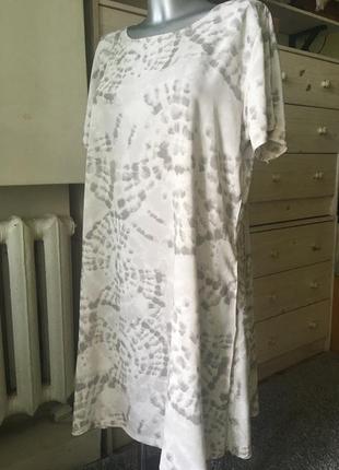 Легкое платье из вискозы оверсайз 10-12-12+ 🇮🇹 италия