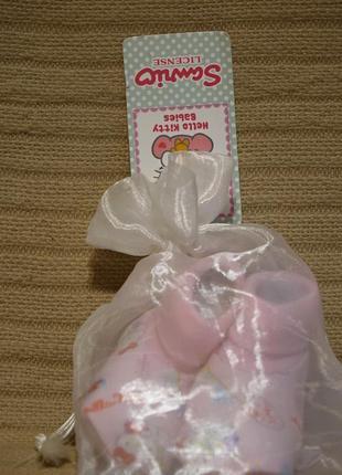 Замечательные нежно розовые х/б пинеточки sanrio - hello kitty