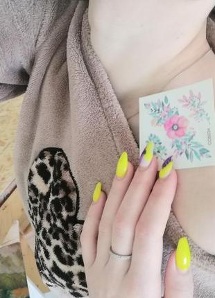 Набор акварельные цветные временное флэш-тату цветы квіти тимчасове кольорове тату|обмен
