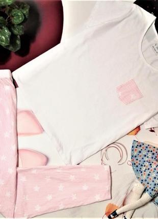Красивая пижама f&f, 100% хлопок, размер 20-22