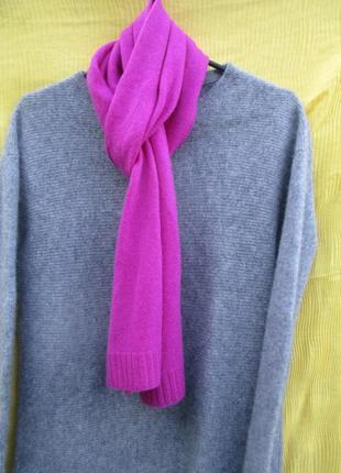 Яркий кашемировый шарфик 170х26