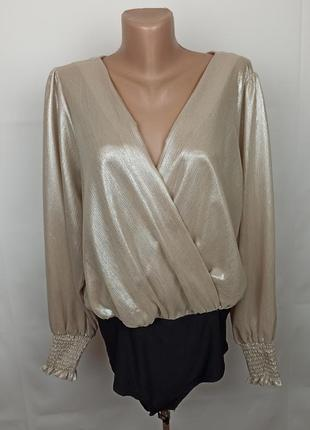 Блуза боди трендовая на запах new look uk 16/44/xl