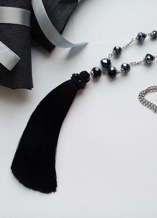 Шелковый сотуар черный