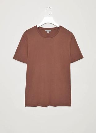 Базовая хлопковая меланжевая футболка cos