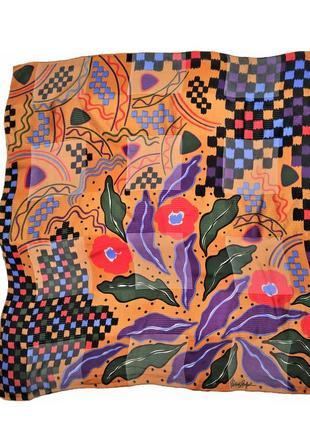 Шелковый платок patrick stoffel швейцария /1504/