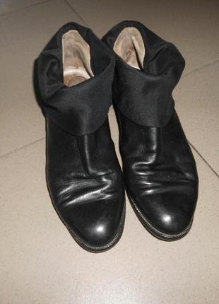 Ботинки низкий ход кожа