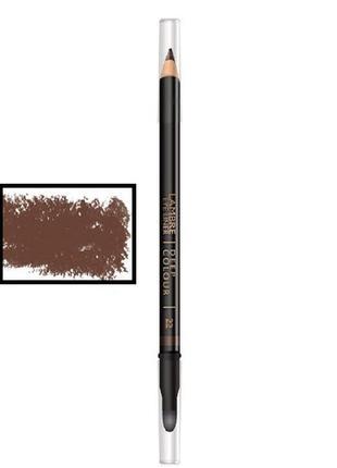 """1+1= 3карандаш для глаз с растушевкой eye liner deep colour №22""""шоколадно-коричневый""""(мат)"""