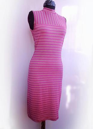 Стильное платье миди трикотаж