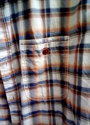 Рубашка принт клетка рубаха унисекс