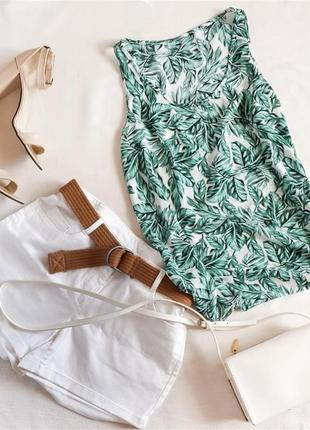 Блуза в тропический принт листья primark