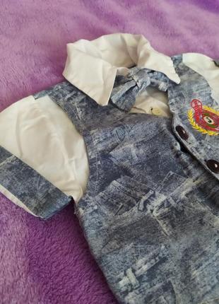 Рубашка с жилеткой обманкой