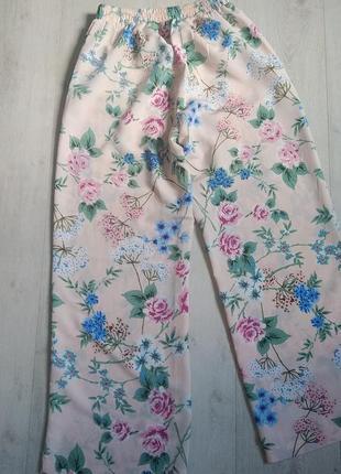 Брюки, штаны, кюлоты, летние брюки, брюки с цветочным принтом