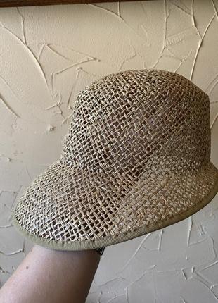 Шляпа пляжная плетённая блайзер кепка в стиле винтаж