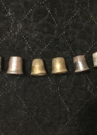 Старые советские женские напёрстки напёрсток аксессуар набор