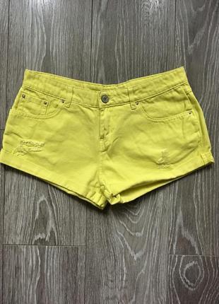 Женские летние джинсовые шорты pull&bear испания