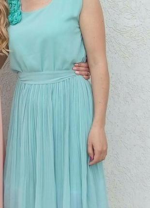 Шифоновое платье цвета мяты