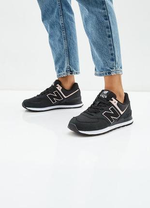 Женские кожаные кроссовки new balance 574