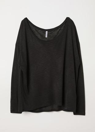 Топ блуза свитшот h&m jersey c длинными рукавами, оверсайз,100% вискоза, р.м-l