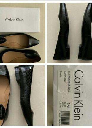 Шикарные балетки -лодочки,еmerin patent snake calvin klein,туфлі, туфли