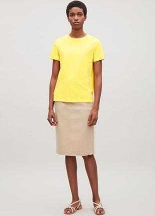 Cos яркая желтая футболка /топ